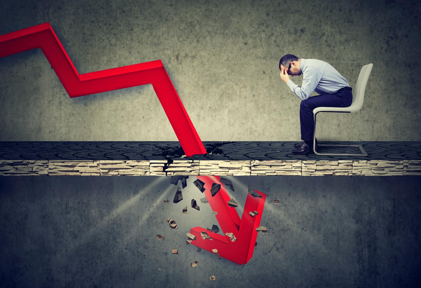 """¿Cuándo una empresa está   """"técnicamente""""  en crisis?."""